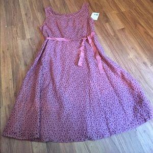 Axcess Blush Pink Dress 16 NWT
